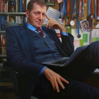 Alastair Campbell by Portrait Artist Nicholas J Smith