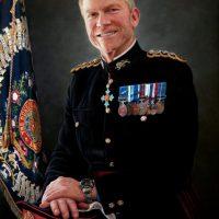 Brigadier Mike Griffiths by Portrait Artist Nicholas J Smith