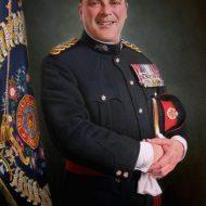Brigadier Peter Rafferty by Portrait Artist Nicholas J Smith