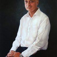 Saj Sangha by Portrait Artist Nicholas J Smith