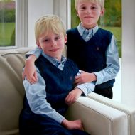William and Henry by Portrait Artist Nicholas J Smith