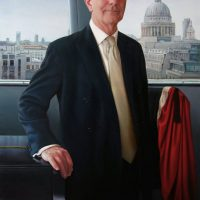 Lord Norman Blackwell by Portrait Artist Nicholas J Smith